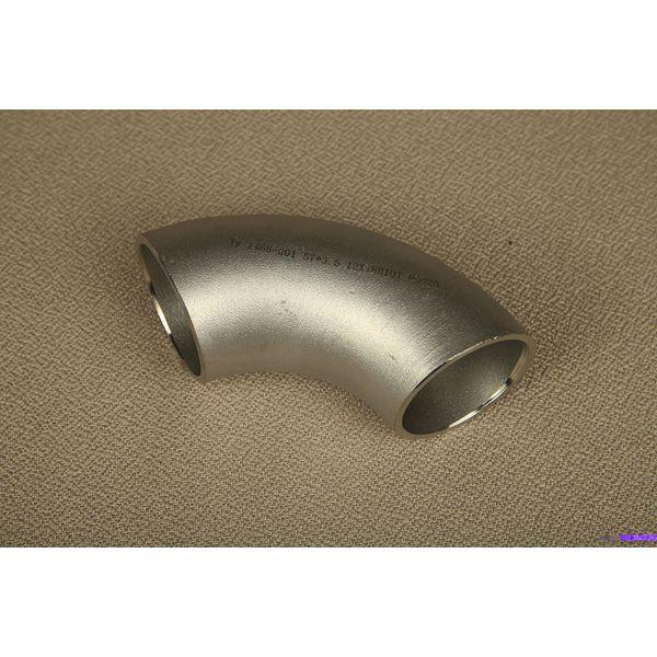 Нержавеющий отвод 33,7 мм AISI 304, AISI 304L 90 3,2 мм Матовая поверхность - Фото №1