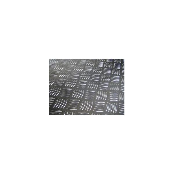 Лист алюм_н_євий 4 мм 1,25х2,5 рифл. рифлений 4 мм 1050 (АД 0) - Фото №1
